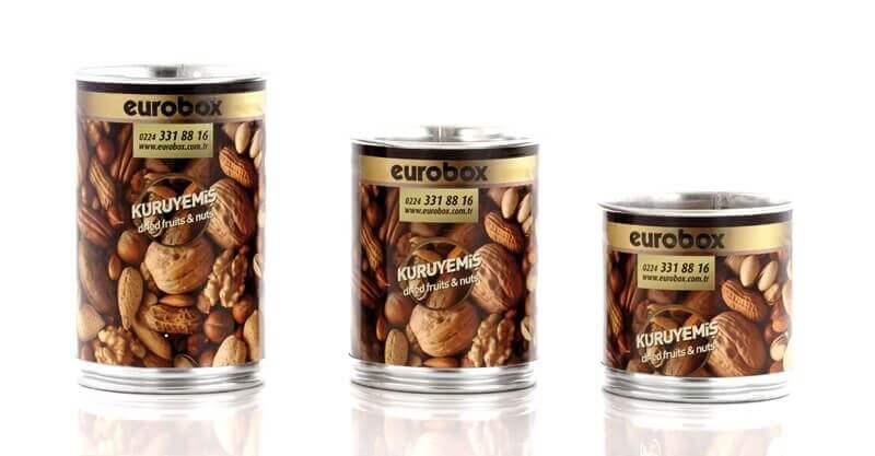 Eurobox Kuruyemiş ve Bakliyat Bidonu 5 kg. 25x25 cm