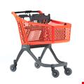Polycart P130 - 130 Litre Plastik Market Arabası Turuncu