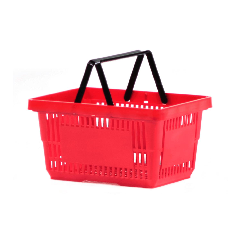 Plastik Market El Sepeti 22 Litre Kırmızı