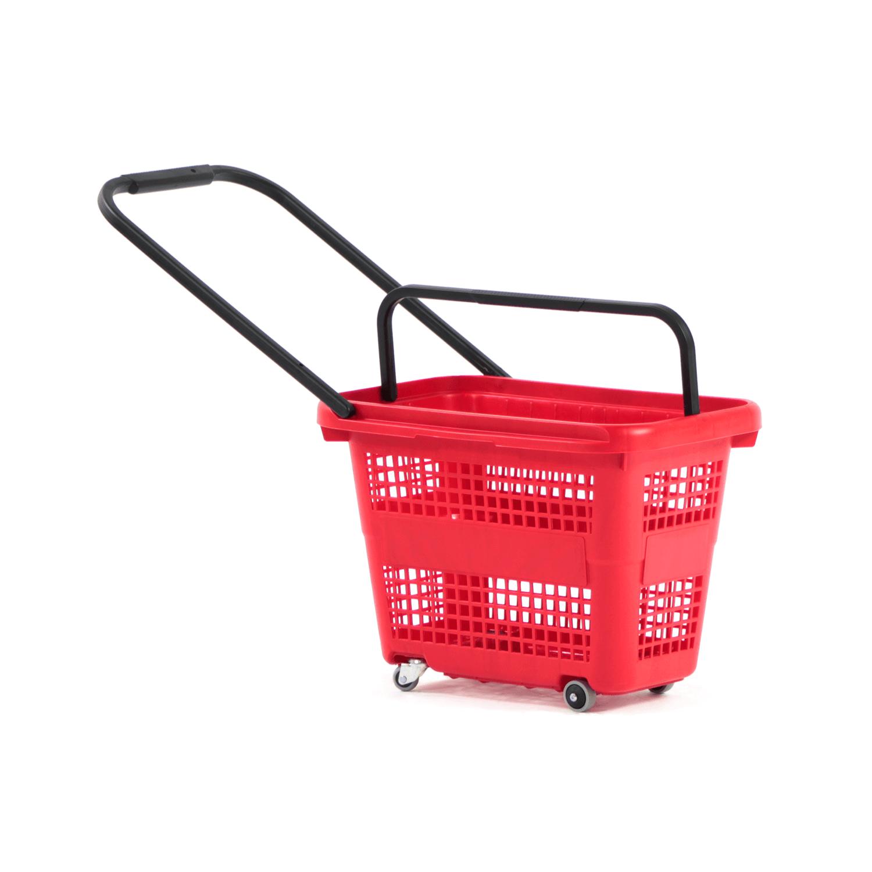 Tekerlekli Market Sepeti 32 LT Kırmızı