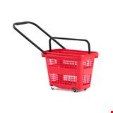 Tekerlekli Market Sepeti 32 Litre Kırmızı