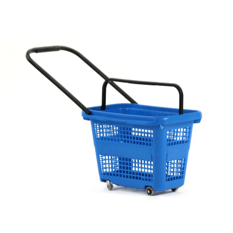 Tekerlekli Market Sepeti 32 Litre Mavi