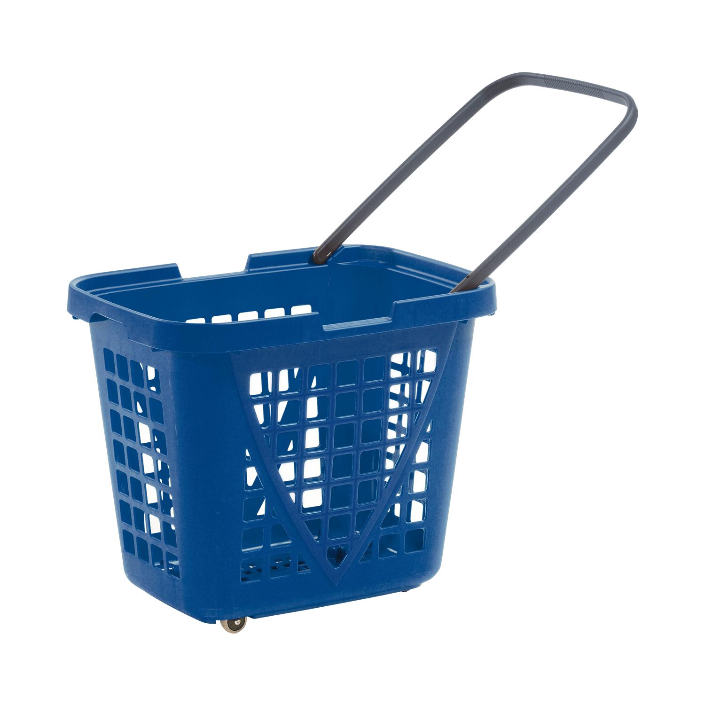 Tekerlekli Market Sepeti 80 Litre XL  Mavi