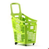 Tekerlekli Market Sepeti Shop&Roll 65 Litre Yeşil