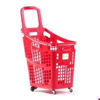 Tekerlekli Market Sepeti Shop&Roll 65 Litre Kırmızı