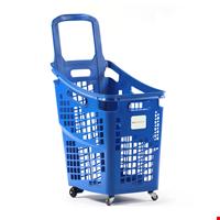 Shop&Roll Tekerlekli Market Sepeti 65 Litre Mavi