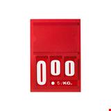 Resimli Manav Etiketi Mini 16x24 cm Tek Taraflı Kırmızı