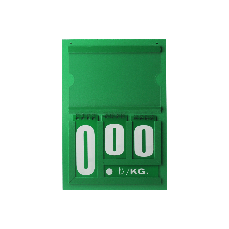 Resimli Manav Etiketi Mini 16x24 cm Çift Taraflı Yeşil