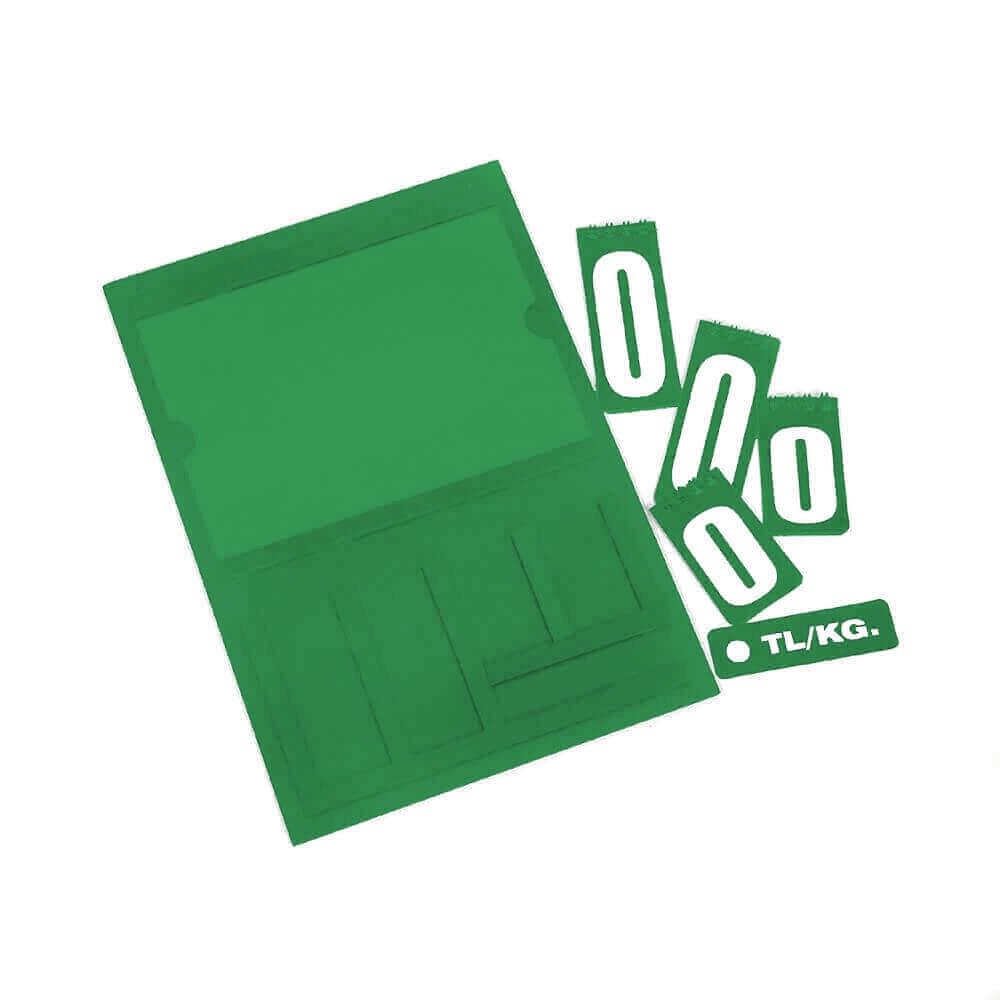 Resimli Manav Etiketi Maxi Çift Taraflı Yeşil