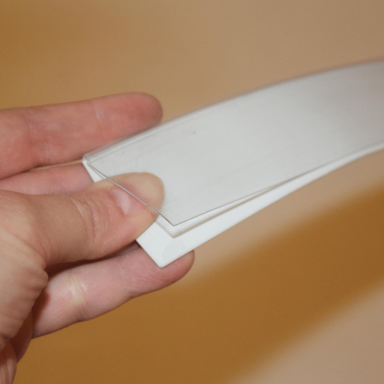 Yapışkanlı Raf Etiketliği, 3,9x100 cm Beyaz Renk