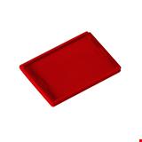 Eurobox Fiyat Kaseti Düz 7,5x5,5 cm Kırmızı