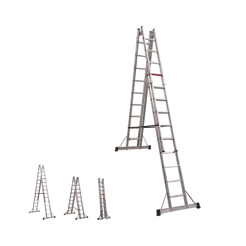 A Tipi Çift Taraflı Alüminyum Merdiven  2x6 Basamaklı
