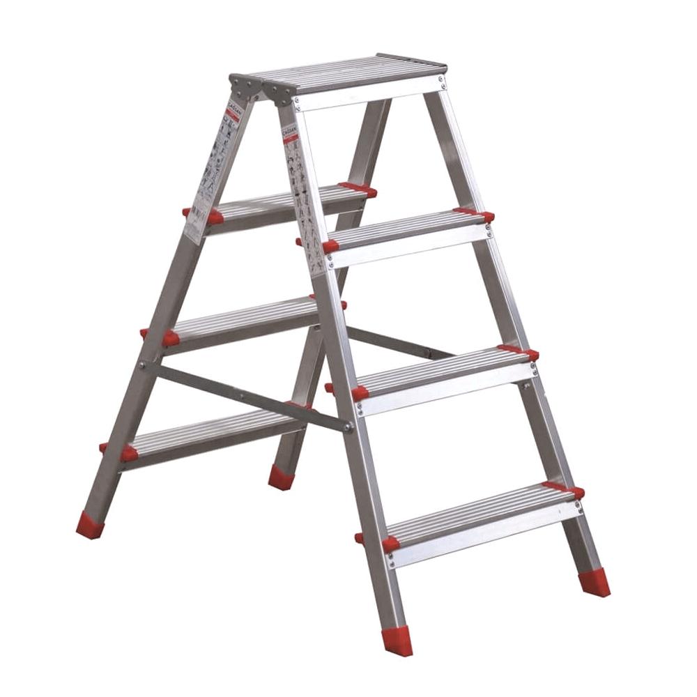 Olimpos Çift Çıkışlı Alüminyum Merdiven 3 Basamaklı