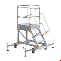Denge Ayaklı Platform Merdiven 3+1 Basamak