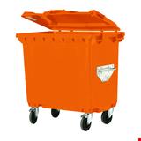 Plastik Çöp Konteyneri Tip 3 660 lt Turuncu