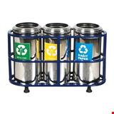 Profil Standlı Geri Dönüşüm Çöp Kovası Paslanmaz