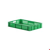 Plastik Sebze Meyve Kasası 10x40x60 cm Yeşil