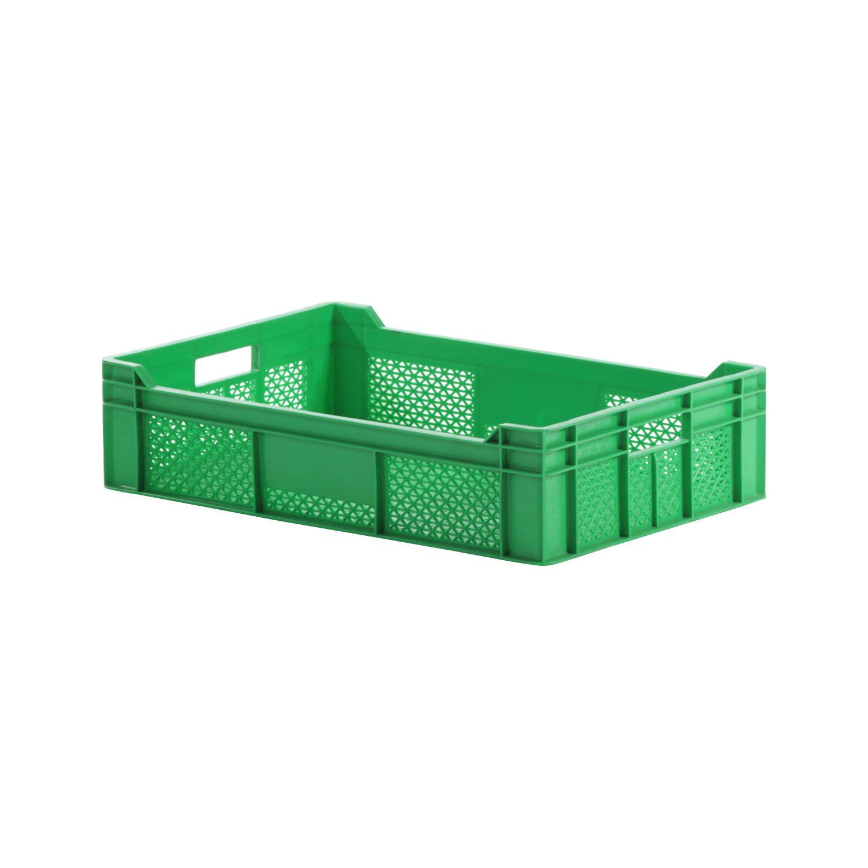 Plastik Sebze Meyve Kasası 15x40x60 cm Yeşil