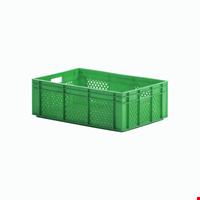 Plastik Sebze Meyve Kasası 20x40x60 cm Yeşil