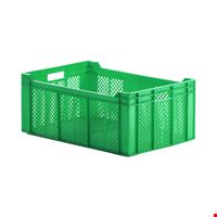 Plastik Sebze Meyve Kasası 24x40x60 cm Yeşil