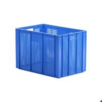 Plastik Sebze Meyve Kasası 42x40x60 cm Mavi