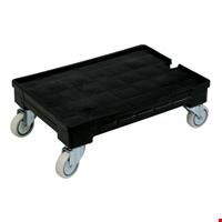 Plastik Kasa Taşıma Arabası Tip 2 - 21x43x63 cm Siyah