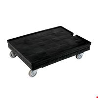 Plastik Kasa Taşıma Arabası Tip 1 - 21x62x82cm Siyah