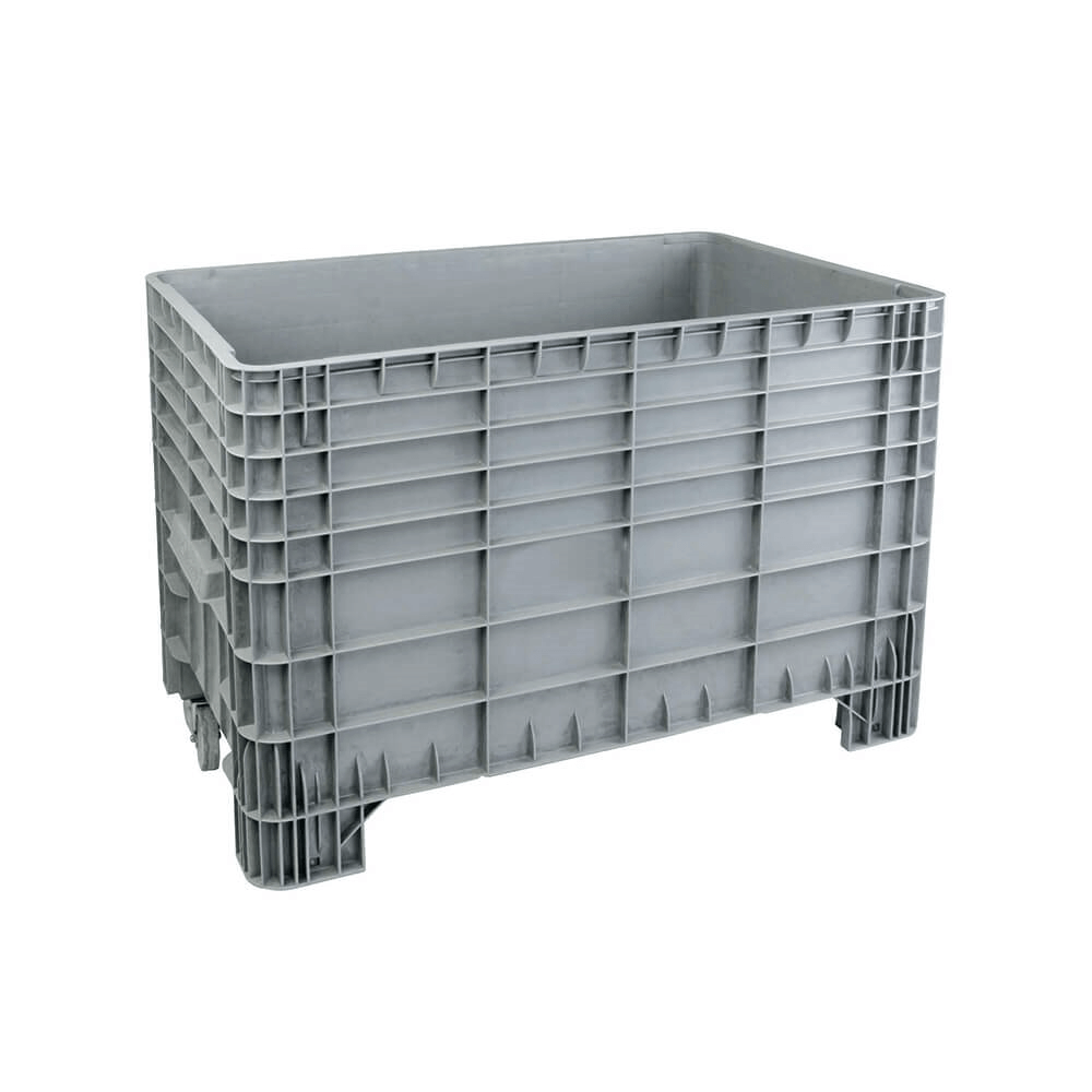 Plastik Konteyner 80x120 cm - 400 kg. Gri