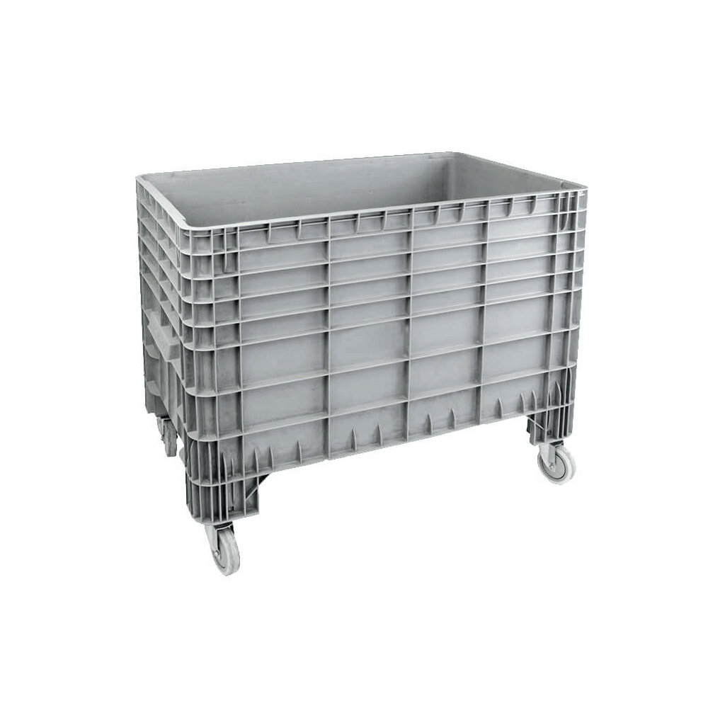 Tekerlekli Plastik Konteyner 80x120 cm - 300 Kg. Gri