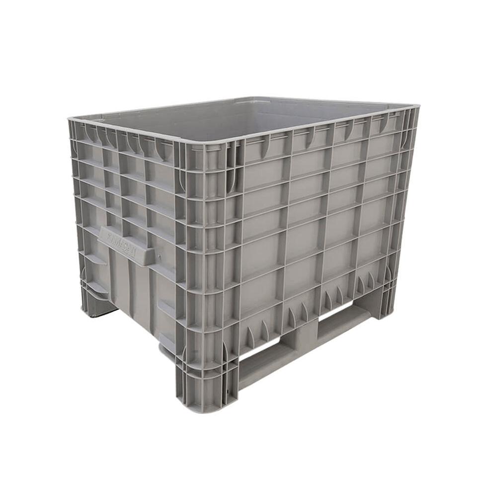 Plastik Konteyner 80x80 cm - 405 kg. Gri