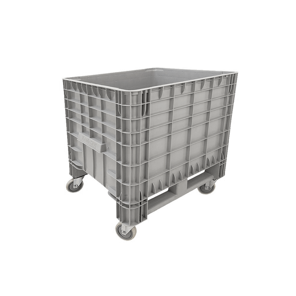 Tekerlekli Plastik Konteyner 80x80 cm - 250 Kg. Gri