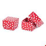 Hediyelik Kutu 5x5x5 cm 50'li Paket Kırmızı Puantiyeli