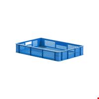 Plastik Sebze Meyve Kasası 10x40x60 cm Mavi