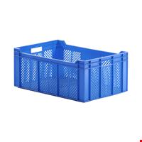 Plastik Sebze Meyve Kasası 24x40x60 cm Mavi