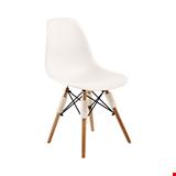 Ahşap Ayaklı Sandalye 003 Beyaz