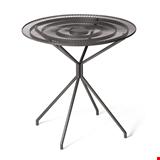 Metal Masa, Bistro, Cafe, ve Ofis Masası, Camsız Yuvarlak Tel Metal Masa, Antrasit